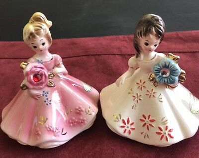 VTG  Josef Originals Birthstone Month Girl Series January & December Lot of 2!