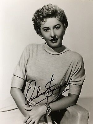 Vintage Hand Signed 8x10 of Actress Barbara Stanwyck w/COA