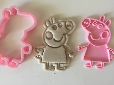 Peppa Pig cookie cutter with stamp Fondant cutter Peppa Pig Birthday Party