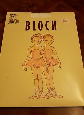 Bloch Girl's Endura  Footed Tights White Size Child Large 10-12 T0921G (2 packs)