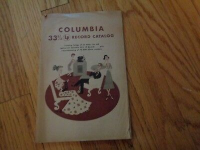 Columbia 33 1/3 LP Record Catalog