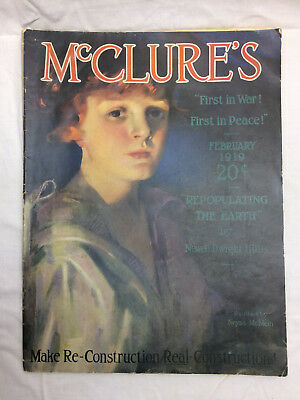Vintage McClures Magazine February 1919 Issue