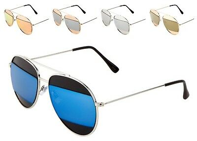Wholesale 12 Pairs Fashion Aviators with Color Mirror Lens - assorted