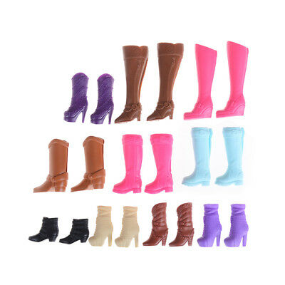 Colorful Boots Casual High Heels Barrel Cute Shoes Clothes For Barbie DollSEAU