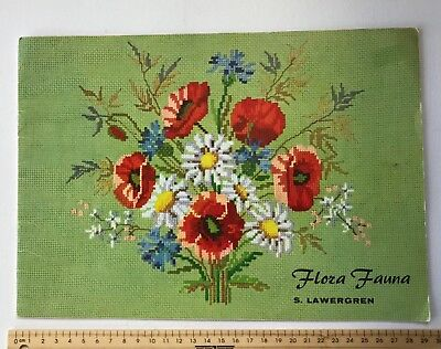 Flora Fauna Cross Stitch Charts DMC Colour Embroidery S Lawergren Sweden