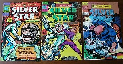 Silver Star (1983 Pacific) Lot of 3, #2 3 5, VF, Jack Kirby