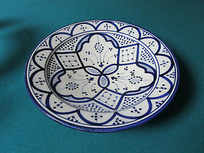 """Dmani Safi Pottery Moroccan Footed 2 1/4 X 10 1/2"""" Platter [*]"""