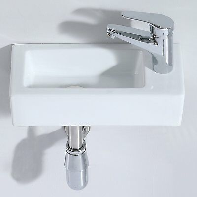 ERIDANUS Vento-right Bathroom Wash Basin,Countertop Wall Mount Right Side Sink