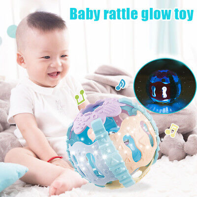Baby Toddler Infant Biting Teether Ball Toy Rattles Soft Activity Balls Rattles