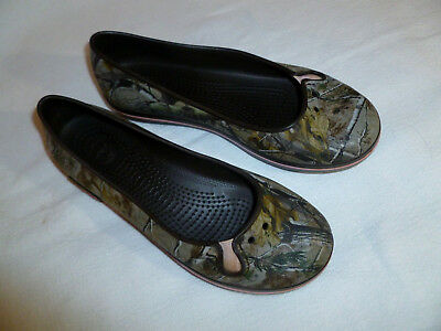 c478ef9f7 Crocs Realtree Ballet Flats Womens Size 7 Camouflage Slip On Rubber Shoes