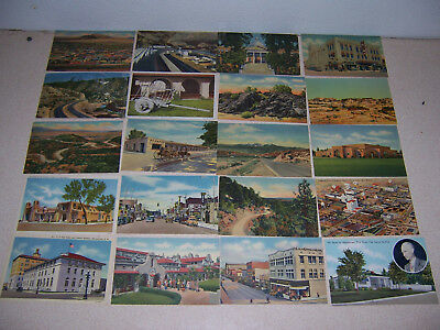 1930s-40s NEW MEXICO VINTAGE LINEN POSTCARD LOT of 20 DIFF