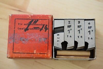 "1-14 NF D 1"" geometric die head thread chasers - excellent condition"