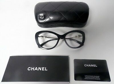 2810886e0c Chanel 5340H Black Sunglass Frames with Genuine Pearl and Case -Used (No  Lenses)