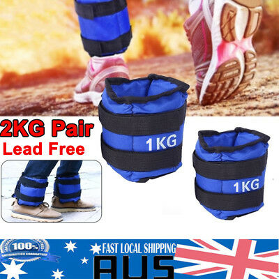 2KG Pair Ankle Weights GYM Wrist Weight Fitness Training Morning Running Sandbag