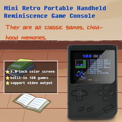 Mini Vintage Retro Portable Handheld Reminiscence Game Console Games 8-Bit Gift