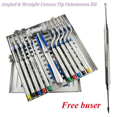 Sinus Lift Osteotomes Offset Convex-Tip Handle Bone Grafting implant insstrument