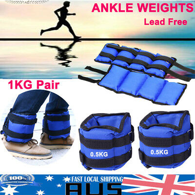 1KG 2x0.5kg Ankle Weights Sport GYM Weight Fitness Running Training Leg Sandbag