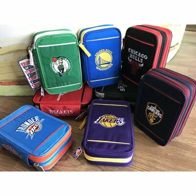 dafbd98b66 Nba Basket Astuccio 3 Zip Lakers,chicago Bulls,warriors,houston Rockets ,clevelan