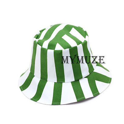 Bleach Kisuke Urahara Cosplay Hat Green and White Stripe Sandal-hat Cap