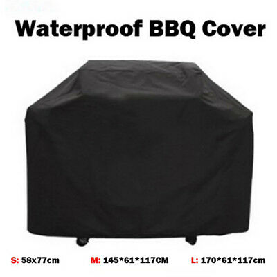 BBQ Cover Heavy Duty Waterproof Rain Snow Barbeque Grill Protector Black Bling