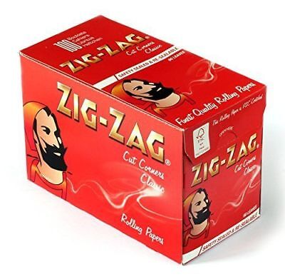 ZIG ZAG RED CUT CORNERS ROLLING CIGARETTE PAPERS x 100 booklets / 1 box /=6000