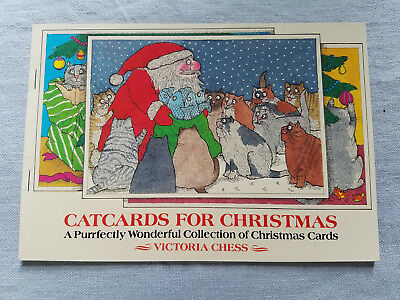 Victoria Chess Cat Cards for Christmas Cutest Ever! postcards unused
