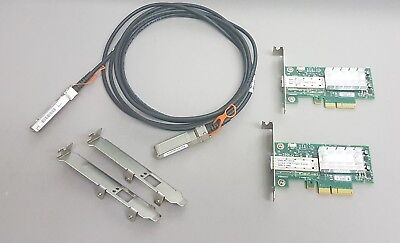 10G Netzwerk Kit 2x Mellanox ConnectX 10Gigabit NIC 10GBe 1x 3m SFP+ Cisco Kabel