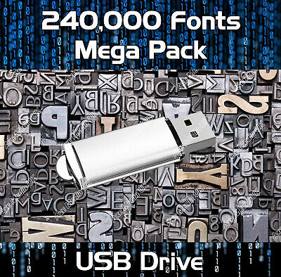 250,000 Royalty Free Fonts Collection Download - Publishing, Web, Graphic Design