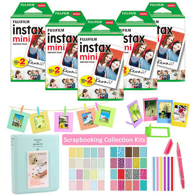 Fujifilm Instax Mini 8 9 White Film Polariod 300 Photos Sheets + Album + Gifts