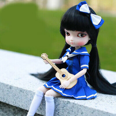 35cm Flexible BJD Girl Doll Full Set Gift Box Childrens Adults Collection #C