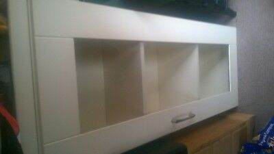 Cream Glass Kichen Wall Unit