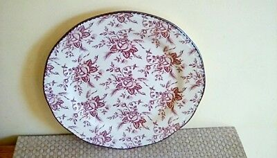 """A Beautiful Wood & Sons Colonial Rose 10.50"""" Dinner Plate"""