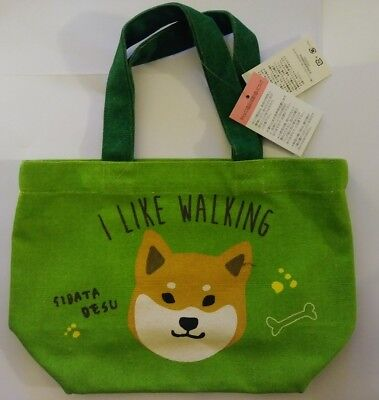 Shiba Inu Dog Small Green Tote Bag/Purse Wasabi Brand
