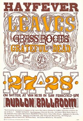 MINT Grateful Dead 1966 FD 10 FIRST Family Dog Fillmore Poster