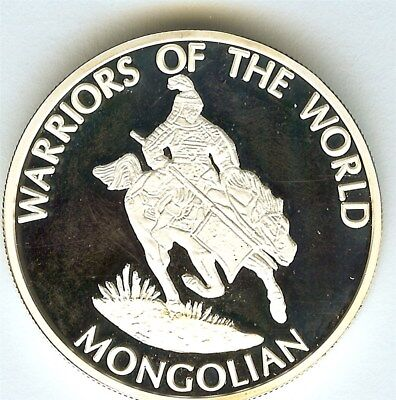 Warriors Of The World 2010 10 Francs -Mongolian - Proof Coin