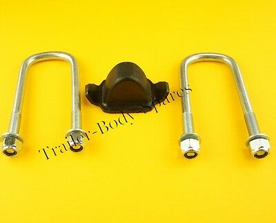FREE UK Post - Axle U Bolts 130mm/Bump Stop Ifor Williams TWIN Leaf Spring