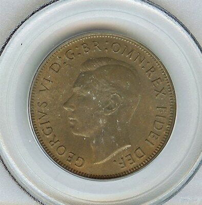 Great Britain 1951 Penny  Pcgs Ms65  Rb