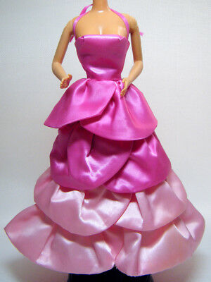 Barbie Vintage SWEET ROSES P J 2-Tone Pink Satin Sleeveless Gown 1983