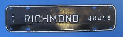 1964 Richmond license plate from Virginia