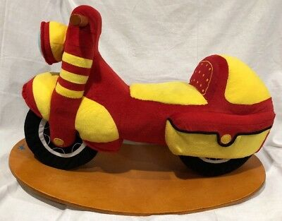 Labebe Child Rocking Horse Toy Red Plush Motorcycle Motorbike Cool Rocker