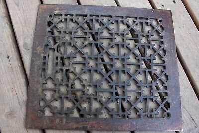 Antique Cast Iron Floor Air Register Heat Vent Grate Cover Old House Decor