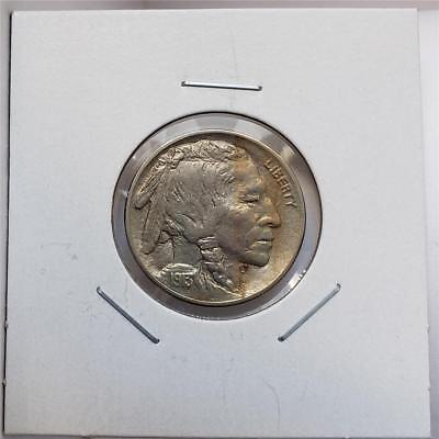 1913 Buffalo Nickel Type 2 - Uncirculated /BU - Beautiful Piece- Die Clashed