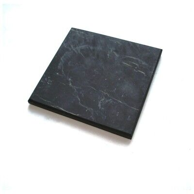 """Shungite Tile Plate 100 x 100 mm approx size 4"""" x 4"""" inch UNPOLISHED thick 10 mm"""