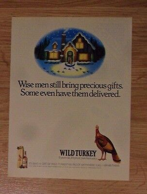 1991 Print Ad Wild Turkey Bourbon Whiskey ~ Wise Men Still Bring Precious Gifts
