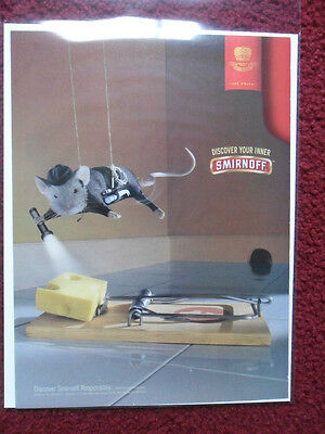 2003 Print Ad Smirnoff Vodka Mission Impossible Mouse Beating the Mousetrap