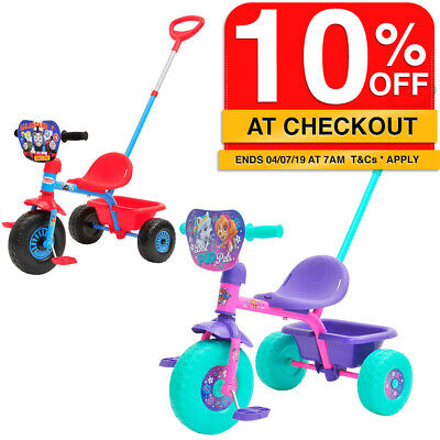 Bike Trike Ride On w/Parent Handle/Toy Bucket Kids/Toddler for Boys & Girls