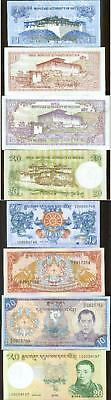 Bhutan 2006 Crisp 4 Note Set Dragons Palace Uncirculated
