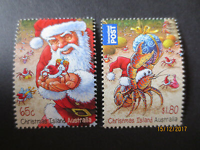 no--3-- 2014  CHRISTMAS  ISLAND   ISSUES  2   STAMPS --MINT