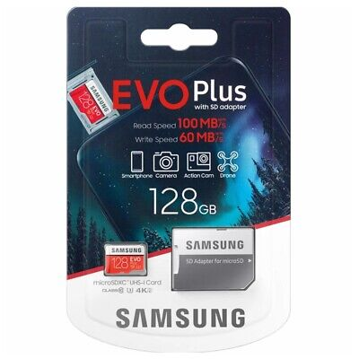 Samsung Evo Plus 128GB Micro SD Card microSDXC Class10 Camera Memory 100MBs