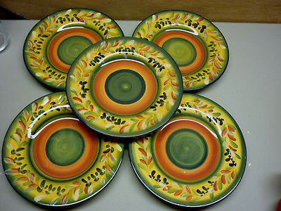 Tabletops Gallery La Province Corsica 8-3/4  Set of 5 Plates & TABLETOPS GALLERY LA Province Corsica Set of 4 Bowls 4-5/8